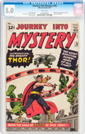 Silver Age (1956-1969):Superhero, Journey Into Mystery #83 (Marvel, 1962) CGC VG/FN 5.0 White pages....