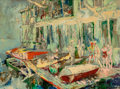 Fine Art - Painting, American:Contemporary   (1950 to present)  , LeRoy Neiman (American, 1921-2012). Belmont Harbor, 1955.Oil on board. 40-1/2 x 52-1/2 inches (102.9 x 133.4 cm). Signe...