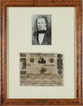 Autographs:Statesmen, [Republic of Texas]. Mirabeau Lamar $500 Government Bond Signed....