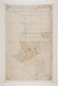 Miscellaneous:Maps, [Map]. 1838 Manuscript Map of Matagorda Signed by S. Rhoads Fisher....