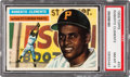 Baseball Cards:Singles (1950-1959), 1956 Topps Roberto Clemente, Gray Back #33 PSA NM-MT 8....