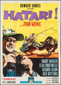 "Movie Posters:Adventure, Hatari! (Paramount, 1962). Italian 4 - Foglio (55"" X 77"").Adventure.. ..."