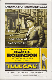 """Illegal (Warner Brothers, 1955). One Sheet (27"""" X 41""""). Crime"""