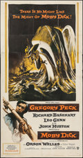 "Movie Posters:Adventure, Moby Dick (Warner Brothers, 1956). Three Sheet (41"" X 79"").Adventure.. ..."