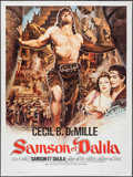"Movie Posters:Adventure, Samson and Delilah (Paramount, R-1970s). French Grande (47.25"" X63""). Adventure.. ..."