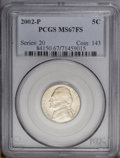 Jefferson Nickels: , 2002-P 5C MS67 Full Steps PCGS. PCGS Population (48/0). NGC Census:(2/0). (#84150)...