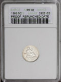 1863 H10C --Repunched Date--PR62 ANACS. NGC Census: (8/123). PCGS Population (23/138).Mintage: 460. Numismedia Wsl. Pric...