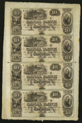 Obsoletes By State:Louisiana, New Orleans, LA- Canal Bank Uncut Sheets Two Examples. ... (Total: 2 sheets)