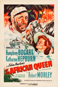 "The African Queen (Independent Film Distribution, 1952). British One Sheet (27"" X 40"")"