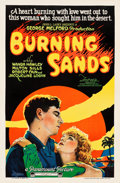 "Movie Posters:Drama, Burning Sands (Paramount, 1922). One Sheet (26"" X 39.5"") Style B....."