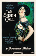 "Movie Posters:Drama, The Siren Call (Paramount, 1922). Trimmed One Sheet (26"" X 39.5"")....."