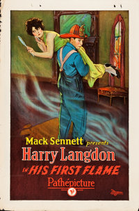 "His First Flame (Pathé, 1927). One Sheet (27"" X 41"")"