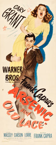 """Movie Posters:Comedy, Arsenic and Old Lace (Warner Brothers, 1944). Insert (14"""" X 36"""").. ..."""