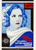 "Movie Posters:Drama, Greta Garbo (MGM, 1929). Swedish Personality Poster (28"" X 39.5"")....."