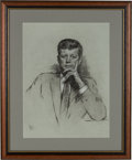 Political:3D & Other Display (1896-present), John F. Kennedy: A Superb 1961-dated Pastel Portrait by Louis Lupas....