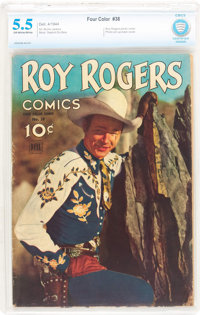 Four Color #38 Roy Rogers Comics (Dell, 1944) CBCS FN- 5.5 Off-white to white pages