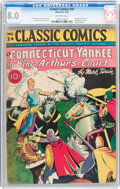 Golden Age (1938-1955):Classics Illustrated, Classic Comics #24 A Connecticut Yankee in King Arthur's Court -First Edition (Gilberton, 1945) CGC VF 8.0 Off-white pages....