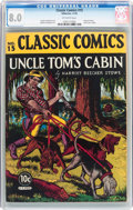 Golden Age (1938-1955):Classics Illustrated, Classic Comics #15 Uncle Tom's Cabin - First Edition (Gilberton,1943) CGC VF 8.0 Off-white pages....