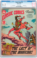 Golden Age (1938-1955):Classics Illustrated, Classic Comics #4 The Last of the Mohicans - First Edition (Gilberton, 1942) CGC FN+ 6.5 Off-white pages....