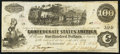 Confederate Notes:1862 Issues, T40 $100 1862 PF-2 Cr. 306.. ...