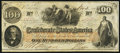 Confederate Notes:1862 Issues, T41 $100 1862 PF-16 Cr 320.. ...
