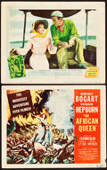 "Movie Posters:Adventure, The African Queen (United Artists, 1952). Title Lobby Card &Lobby Card (11"" X 14"").. ... (Total: 2 Items)"