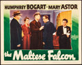 "Movie Posters:Film Noir, The Maltese Falcon (Warner Brothers, 1941). Lobby Card (11"" X 14"").. ..."