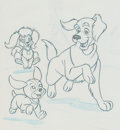 Animation Art:Color Model, The Puppies New Adventure Color Model Group Animation Art(Hanna-Barbera/Ruby Spears, 1982)....