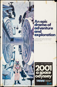 "2001: A Space Odyssey (MGM, 1968). One Sheet (27"" X 41"") Cinerama Style C. Science Fiction"