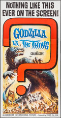 "Movie Posters:Science Fiction, Godzilla vs. the Thing (American International, 1964). Three Sheet (41"" X 79""). Science Fiction.. ..."