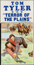 """Movie Posters:Western, Terror of the Plains (Screencraft, R-1930s). Three Sheet (41"""" X 78""""). Western.. ..."""