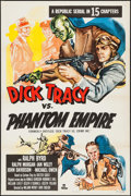"""Movie Posters:Serial, Dick Tracy vs. Crime Inc. & Other Lot (Republic, R-1952). One Sheets (2) (27"""" X 41""""). Serial. Reissue Title: Dick Tracy vs... (Total: 2 Items)"""