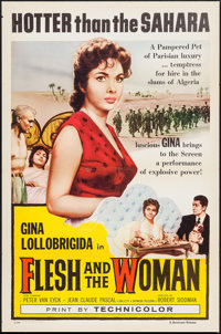 """Flesh and the Woman (Dominant Pictures, 1958). First U.S. Release One Sheet (27"""" X 41"""") Flat Folded . Foreign..."""