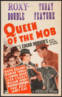 """Queen of the Mob (Paramount, 1940). Window Card (14"""" X 22""""). Crime"""
