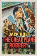 "Movie Posters:Crime, The Great Plane Robbery (Columbia, 1940). One Sheet (27"" X 41"").Crime.. ..."