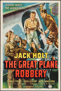 """The Great Plane Robbery (Columbia, 1940). One Sheet (27"""" X 41""""). Crime"""