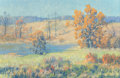 Fine Art - Painting, American:Modern  (1900 1949)  , Maurice Braun (American, 1877-1941). Autumn Landscape. Oilon canvas. 20 x 30 inches (50.8 x 76.2 cm). Signed lower righ...