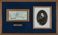 Autographs:Authors, Charles Dickens Signed Check....