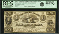 Obsoletes By State:Ohio, Toledo, OH - Erie and Kalamazoo Rail Road Bank $1 January 18, 1841Wolka 2556-01, Lee-ADR-4-65. PCGS Extremely Fine 40PPQ.. ...