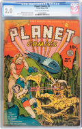 Golden Age (1938-1955):Science Fiction, Planet Comics #5 (Fiction House, 1940) CGC GD 2.0 Cream tooff-white pages....