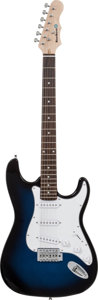 Musical Instruments:Electric Guitars, Stratocaster Copy Blue Burst Handcrafted Guitar Proceeds Benefitthe Austin Disaster Relief Network. ...