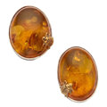 Estate Jewelry:Earrings, Amber, Sterling Silver Earrings, Stephen Dweck. ...