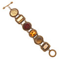 Estate Jewelry:Bracelets, Multi-Stone, Yellow Metal Bracelet, Stephen Dweck. ...