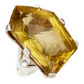 Estate Jewelry:Rings, Citrine, Sterling Silver Ring, Stephen Dweck. ...