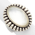 Estate Jewelry:Rings, Rock Crystal Quartz, Mother-of Pearl, Sterling Silver Ring, Lagos. ...