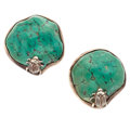 Estate Jewelry:Earrings, Turquoise, Sterling Silver Earrings, Stephen Dweck . ...