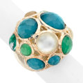 Estate Jewelry:Rings, Quartz, Mother-of-Pearl, Sterling Silver Ring, Ippolita. ...