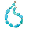Estate Jewelry:Necklaces, Turquoise, Base Metal, Stephen Dweck. ...
