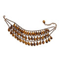 Estate Jewelry:Necklaces, Tiger's-Eye Quartz, Base Metal Necklace, Stephen Dweck. ...