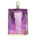 Estate Jewelry:Pendants and Lockets, Amethyst, Sterling Silver Pendant, Stephen Dweck. ...
